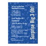 SORPRENDA el confeti blanco azul moderno del Invitación 12,7 X 17,8 Cm