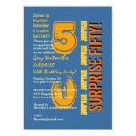 SORPRENDA el naranja azul del oro del 50.o Comunicado Personal