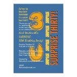 SORPRENDA el naranja azul del oro del trigésimo Anuncios Personalizados