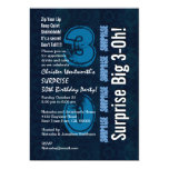 Sorprenda el vintage azul del trigésimo cumpleaños invitación 12,7 x 17,8 cm