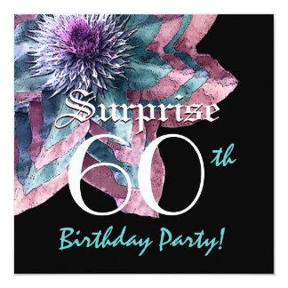 """SORPRENDA la 50.a flor rosada azul F631 de la Invitación 5.25"""" X 5.25"""""""