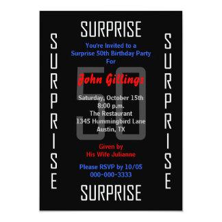 Sorprenda la 50.a invitación de la fiesta de invitación 12,7 x 17,8 cm