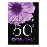SORPRENDA la 50.a margarita de la púrpura de la Invitación 12,7 X 17,8 Cm