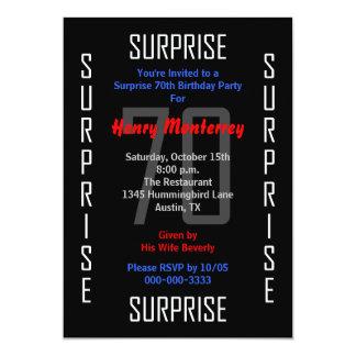 Sorprenda la 70.a invitación de la fiesta de