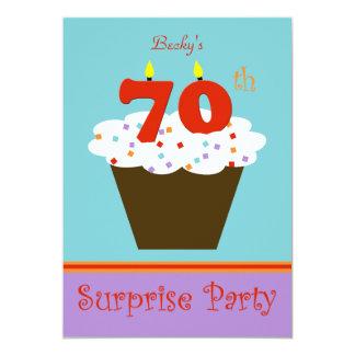 Sorprenda la 70.a invitación de la fiesta de invitación 12,7 x 17,8 cm