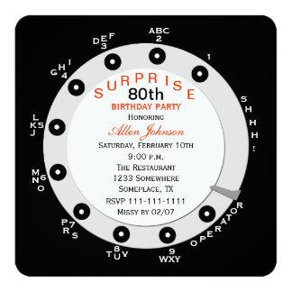 Sorprenda la 80.a invitación de la fiesta de invitación 13,3 cm x 13,3cm