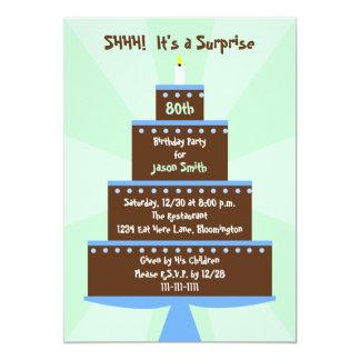 Sorprenda la 80.a invitación de la fiesta de invitación 12,7 x 17,8 cm