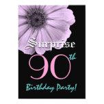 SORPRENDA la 90.a margarita de la púrpura de la Invitacion Personalizada