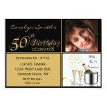 Sorprenda las 50.as invitaciones de la fiesta de comunicado personalizado