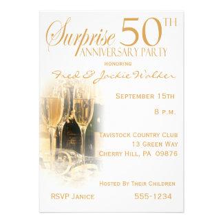 Sorprenda las 50 as invitaciones de la fiesta de a invitación