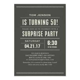 """Sorprenda las 50.as invitaciones de la fiesta de invitación 5"""" x 7"""""""
