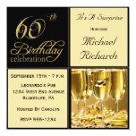 Sorprenda las 60.as invitaciones de la fiesta de invitación 13,3 cm x 13,3cm