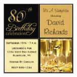 Sorprenda las 80.as invitaciones de la fiesta de invitación personalizada