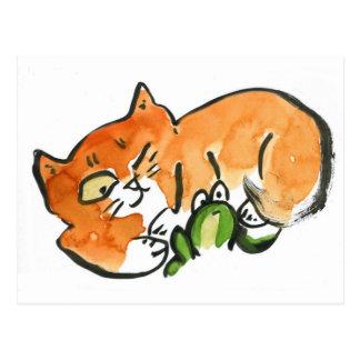 Sorprendido - rana o gato de Naping Postal