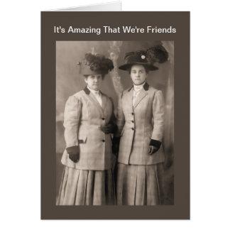 Sorprendiendo amistad maravillosa - fotografía de tarjetón