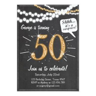 Sorpresa 50 invitación del cumpleaños de cincuenta