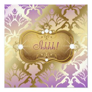 """Sorpresa atractiva del damasco de la lila 311 invitación 5.25"""" x 5.25"""""""