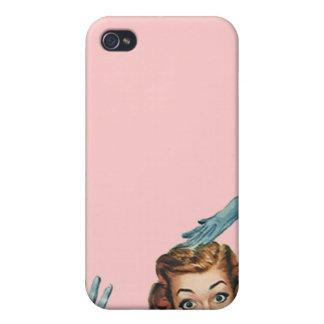 sorpresa chocada estilo retro elegante del caso de iPhone 4 protector