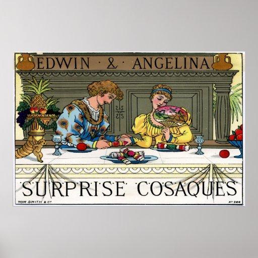 Sorpresa Cosaques, 1878 de Tom Smith Póster