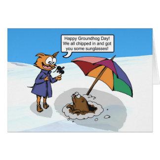 Sorpresa de Groundhog Tarjeta Pequeña