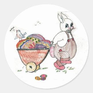 Sorpresa de Pascua Pegatina Redonda