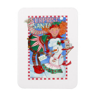 Sorpresa del duende y del muñeco de nieve para San Iman Rectangular