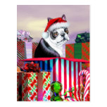 Sorpresa del navidad de Boston Terrier Tarjetas Postales