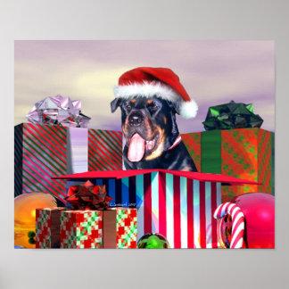 Sorpresa del navidad de Rottweiler Impresiones