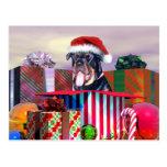 Sorpresa del navidad de Rottweiler Postal