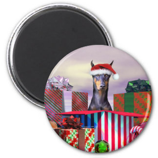 Sorpresa del navidad del Doberman Imanes De Nevera