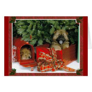 Sorpresa del navidad tarjeta de felicitación