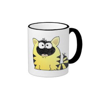 Sorpresa divertida del gato tazas de café