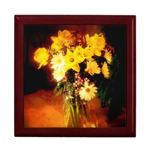 Sorpresa floral joyero cuadrado grande