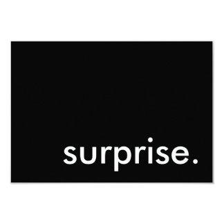 """sorpresa invitación 3.5"""" x 5"""""""