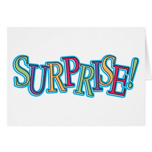 ¡Sorpresa! Tarjeta De Felicitación