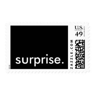 sorpresa timbre postal