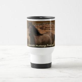 Sorraia Spanish Mustang Horse-Lover s Travel Mug