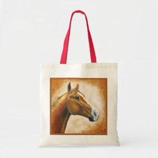 sorrel horse head tote bag