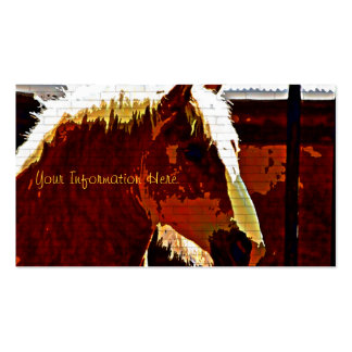Sorrel Horse In Profile Business Cards