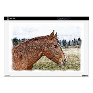 Sorrel Horse Portrait Equine Art Illustration Laptop Skins