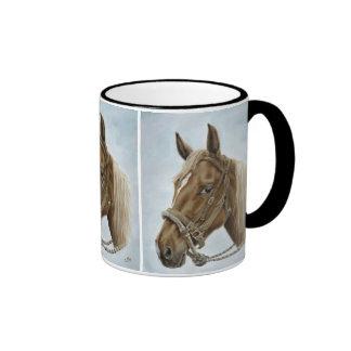 Sorrel Western Horse Mug in Black