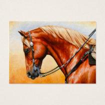 Sorrel Western Pleasure Quarter Horse Business Card