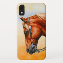 Sorrel Western Pleasure Quarter Horse iPhone XR Case