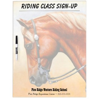 Sorrel Western Pleasure Quarter Horse Dry-Erase Board