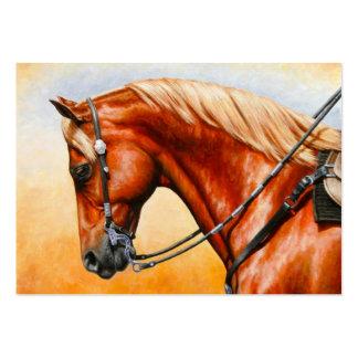 Sorrel Western Pleasure Quarter Horse Large Business Card