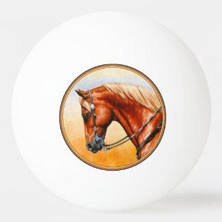 Sorrel Western Pleasure Quarter Horse Ping Pong Ball