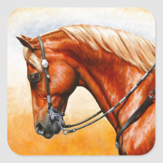 Sorrel Western Pleasure Quarter Horse Square Sticker