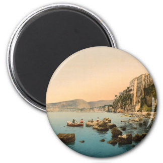 Sorrento by the Sea, Naples, Campania, Italy 2 Inch Round Magnet