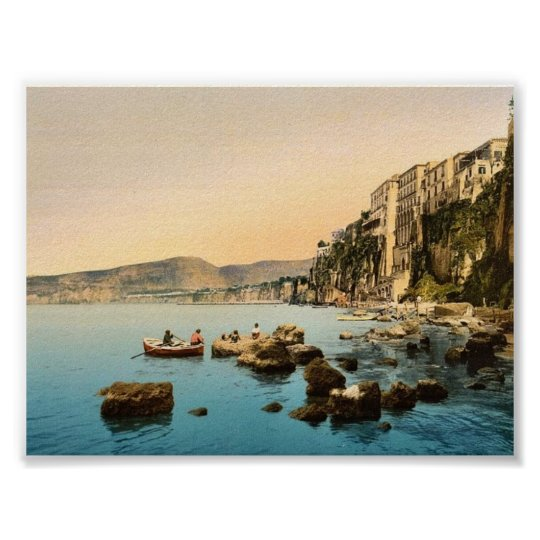 Sorrento by the sea, Naples, Italy classic Photoch Poster