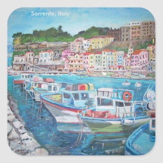 Sorrento, Italia - pegatinas cuadrados, brillantes Pegatina Cuadrada
